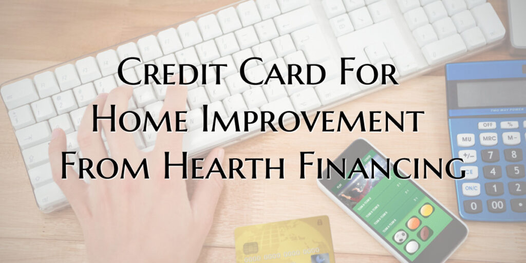 Credit Card for home improvement