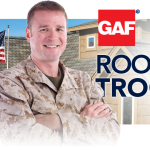 Military Members, Take Advantage of the GAF Roofs for Troops Rebate