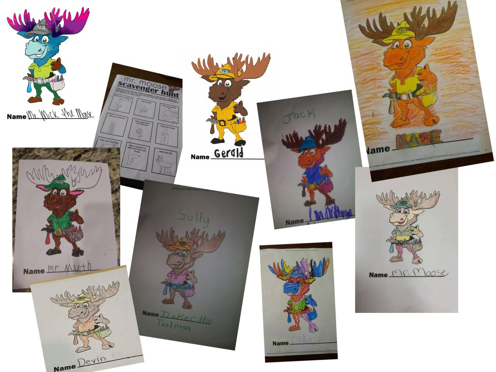 Muth Roofing Mr. Moose Activities Collage