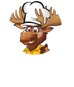 Muth Roofing Mr. Moose in Chef's Hat