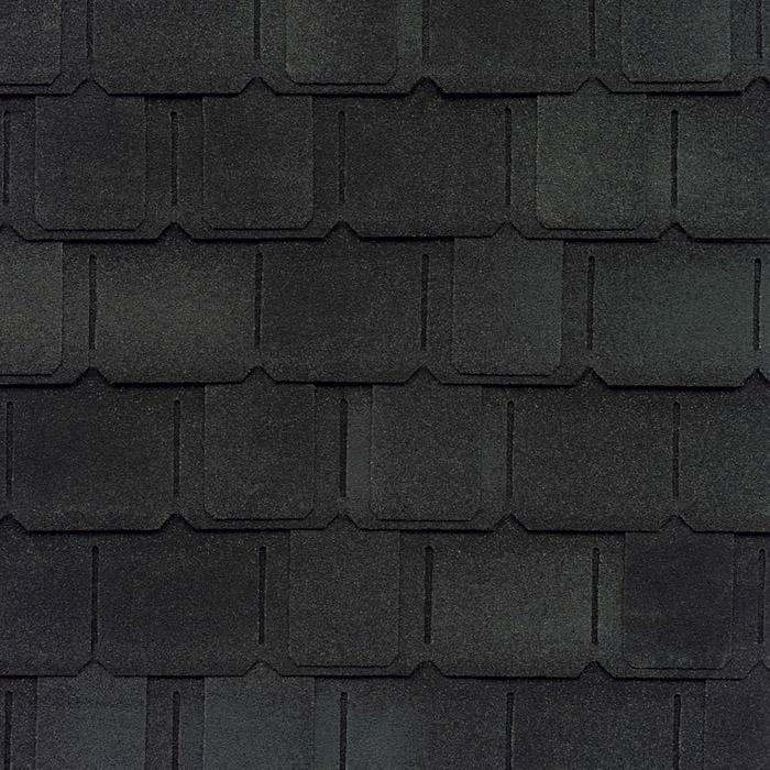 GAF's Camelot II Charcoal shingle swatch