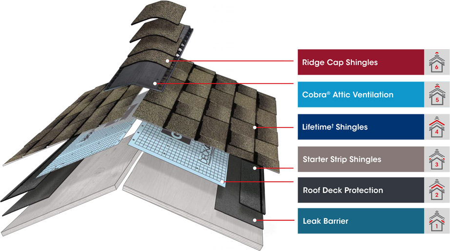 Roofing Shingles Layers Infographic